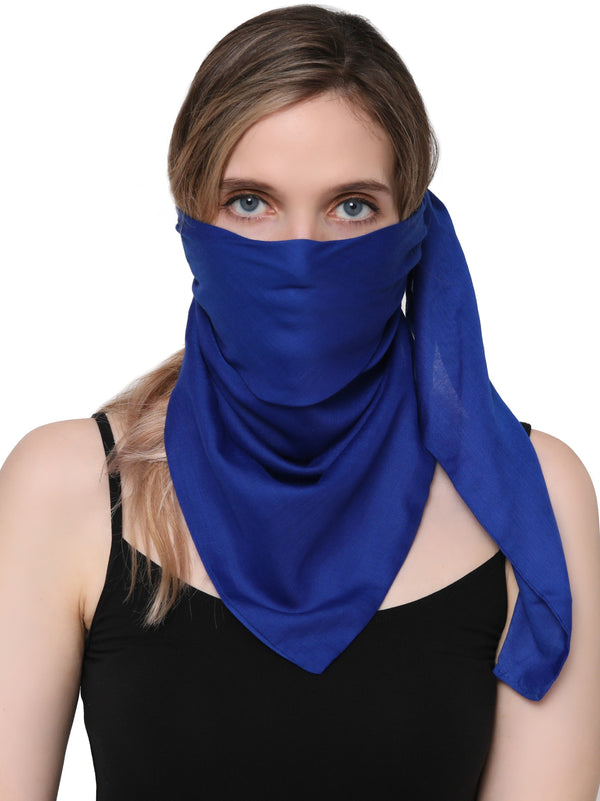Unisex Scarf Face Mask, Headscarf, Neckscarf, Bandana- Royal