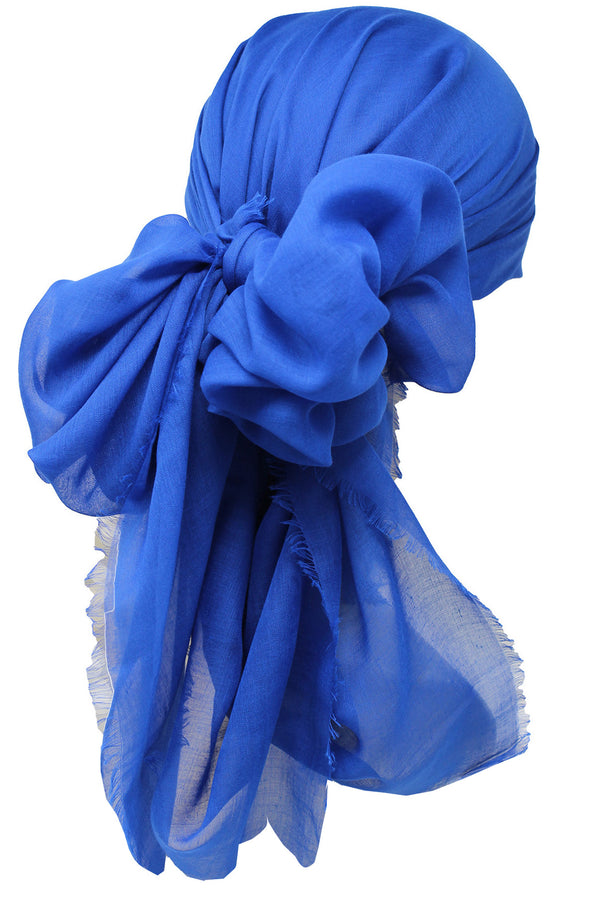 Ultra Soft Head Scarf -  Royal with Edges