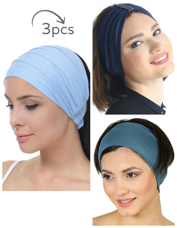 3 Pieces Headband -Sky-Denim-Carolina