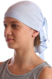 Deresina Teen indoor bandana for hairloss skyblue