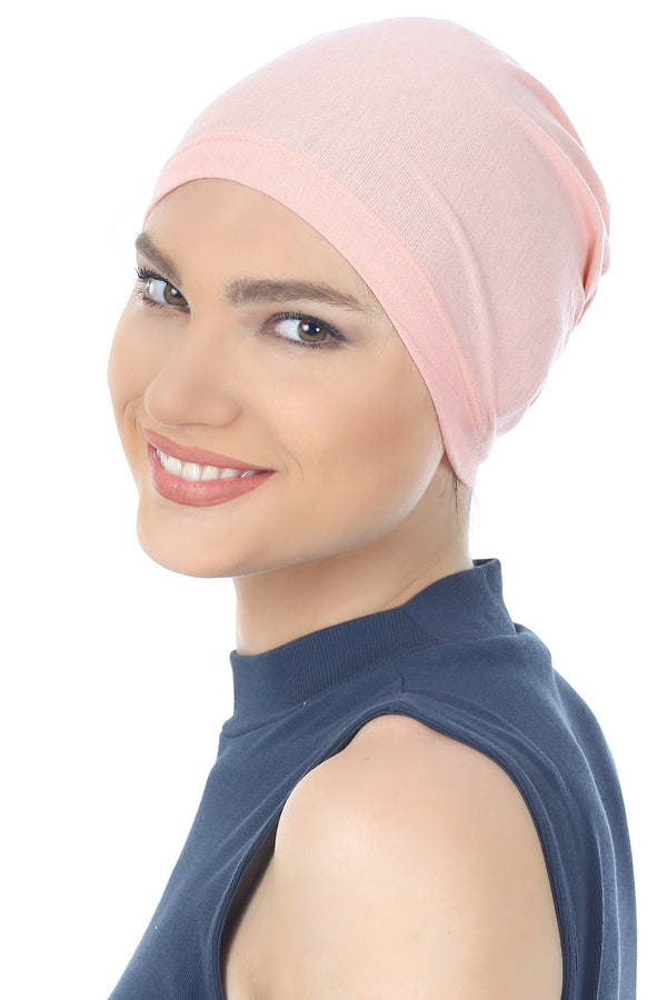 Deresina Essential cotton chemo cap salmon