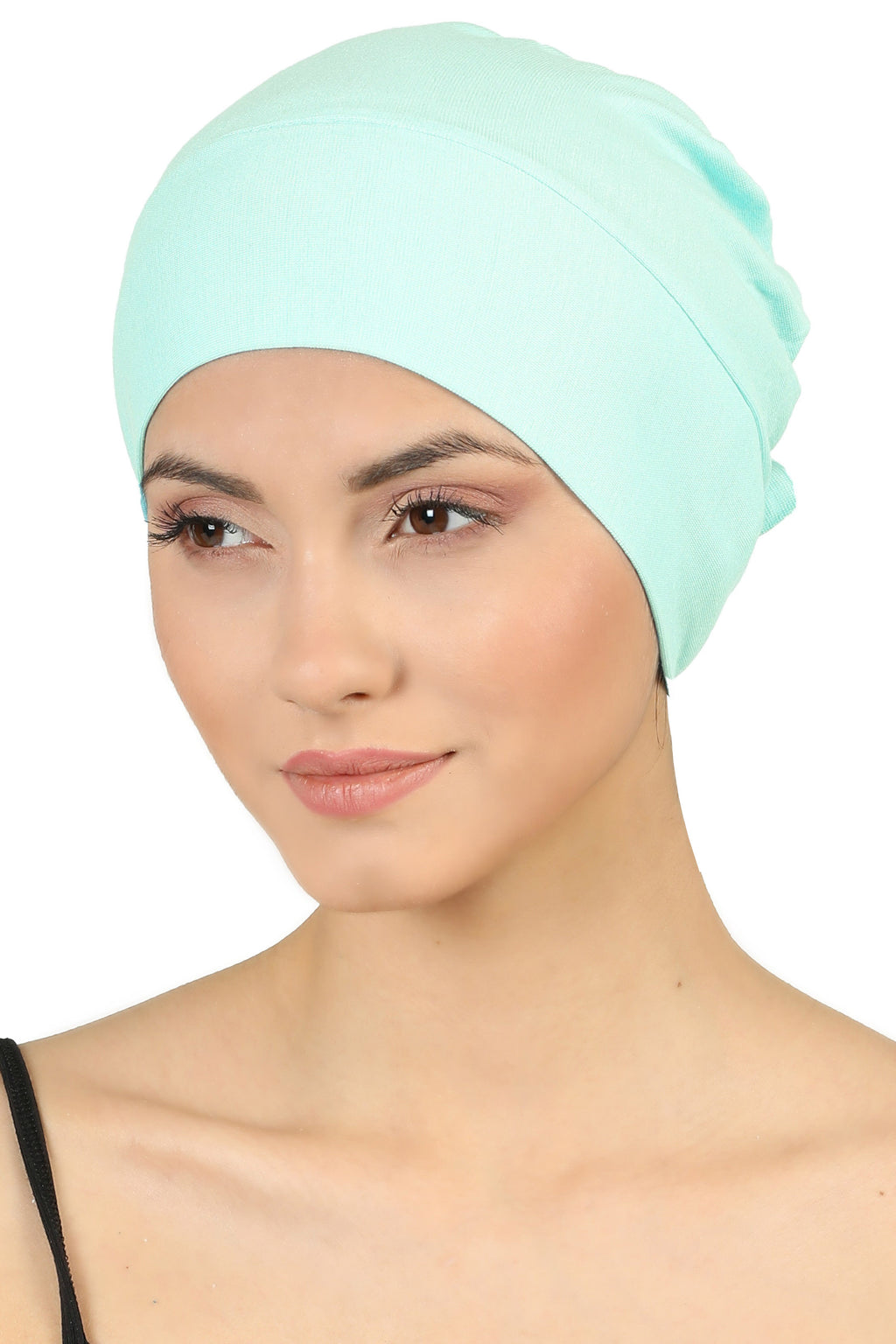 Double Layer Tie Back Cotton Cap - Spring Green