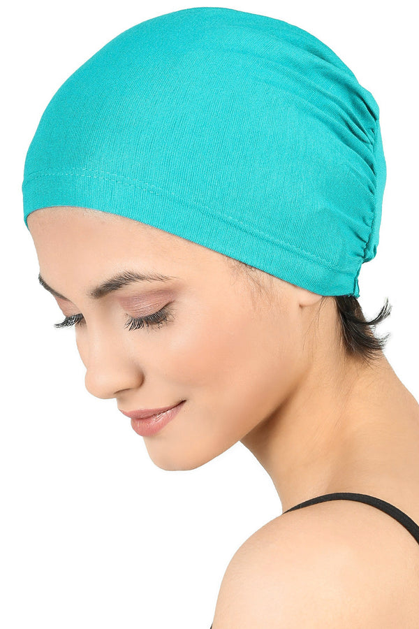Essential Plain Cotton Cap - Teal