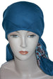Winter Cotton Square Head Scarf - Teal