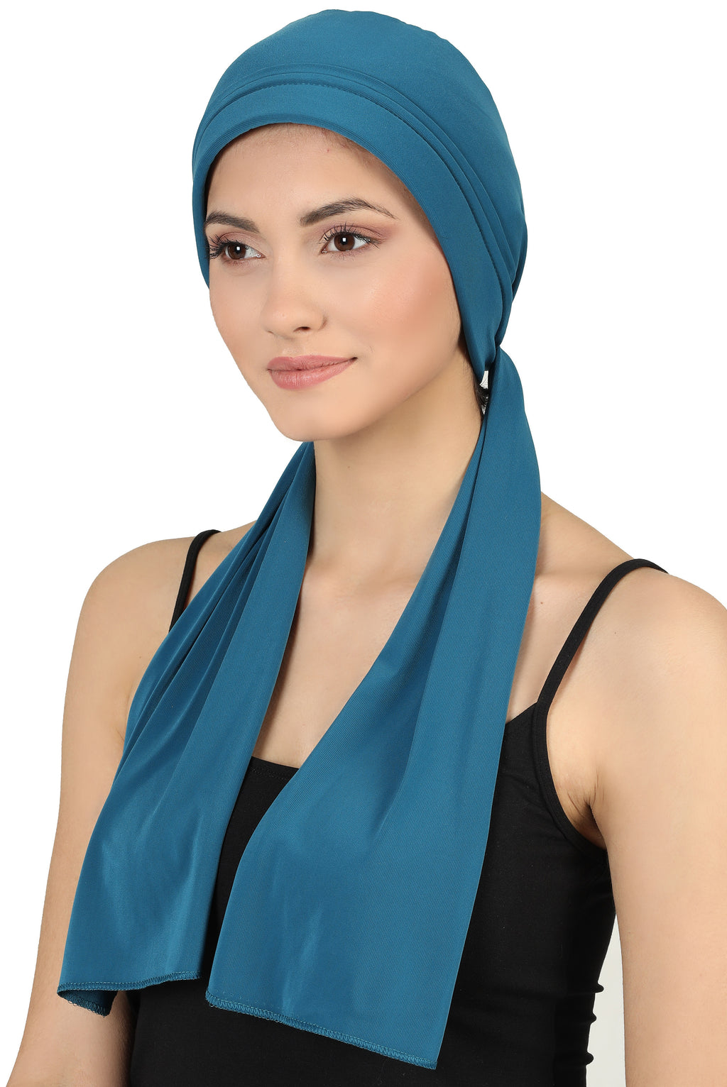 Versatile Headwear with Long Tails - Teal