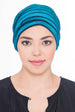 Velour Beaded Headwear - Pine Green