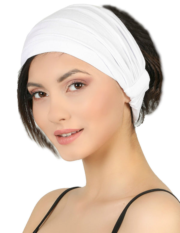 Elasticated Stretchy Headband - White