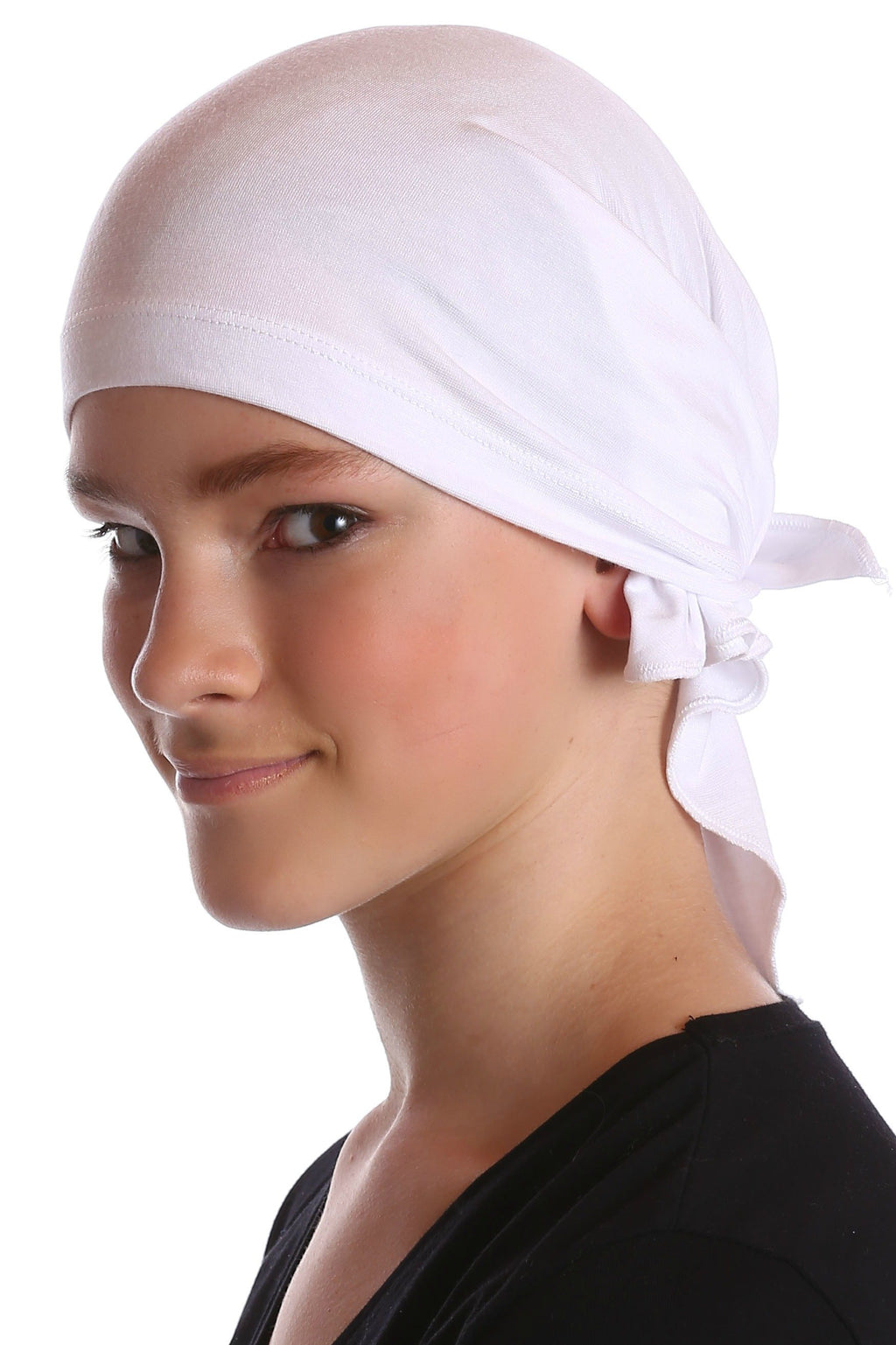 Deresina Teen indoor bandana for hairloss white