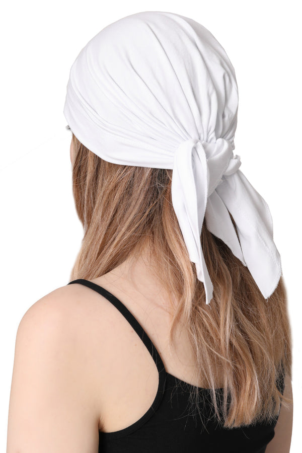 Simple Tie Bandana - White