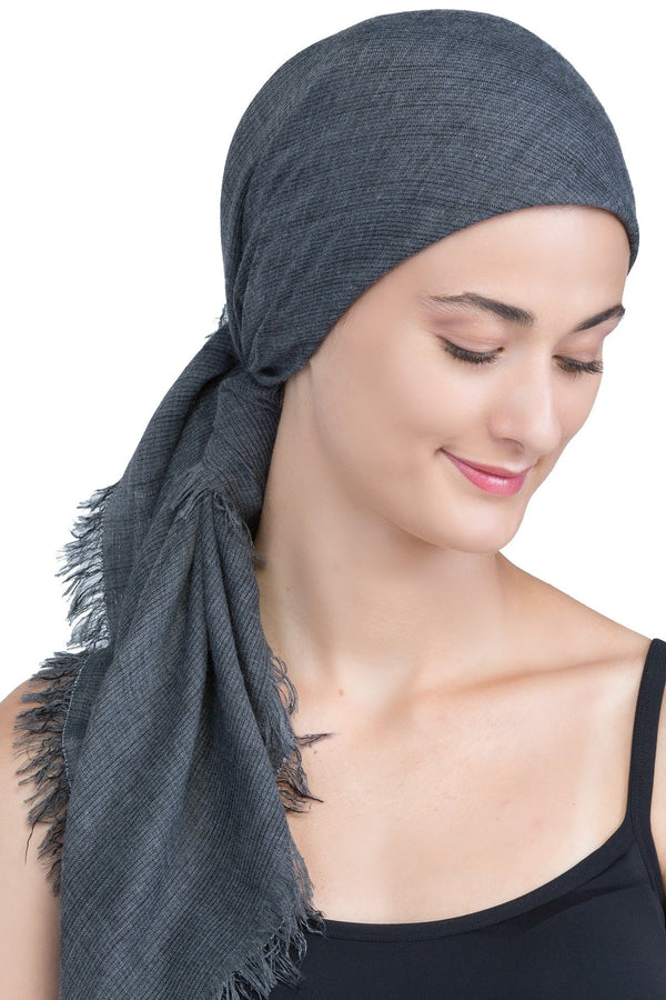Deresina Seasonal Chemo Headscarf Grey With Edges
