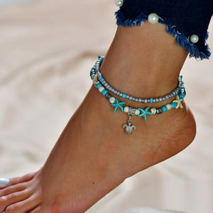 Bohemian Gypsy Turkish Tribal Boho Silver Coin Anklet - JEWELRY WEARS