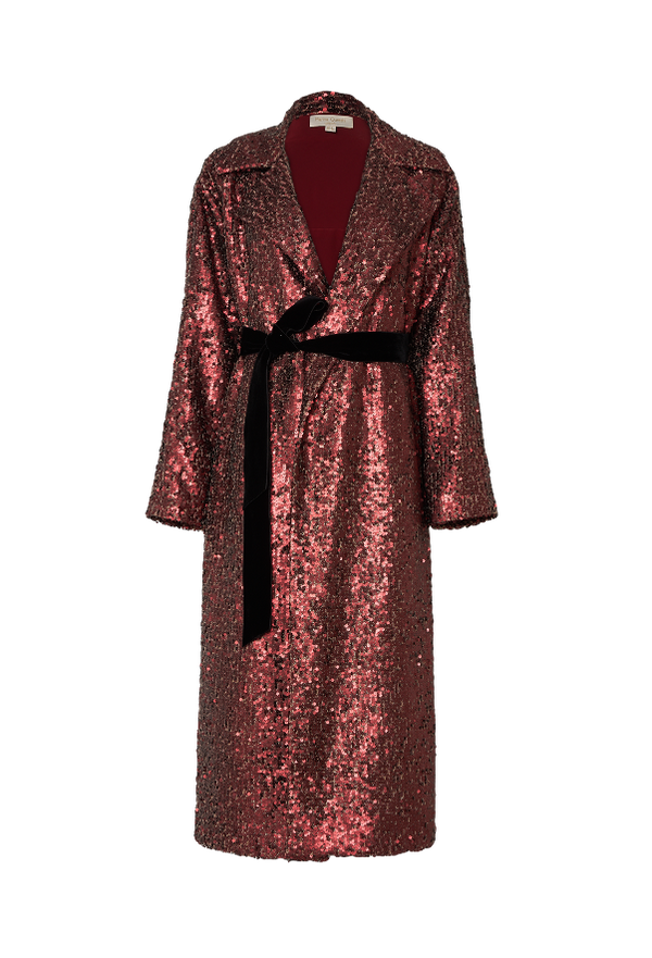 The Jelena Sequins Oversized Coat