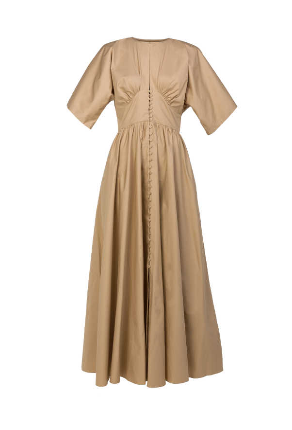 Looped cotton maxi dress
