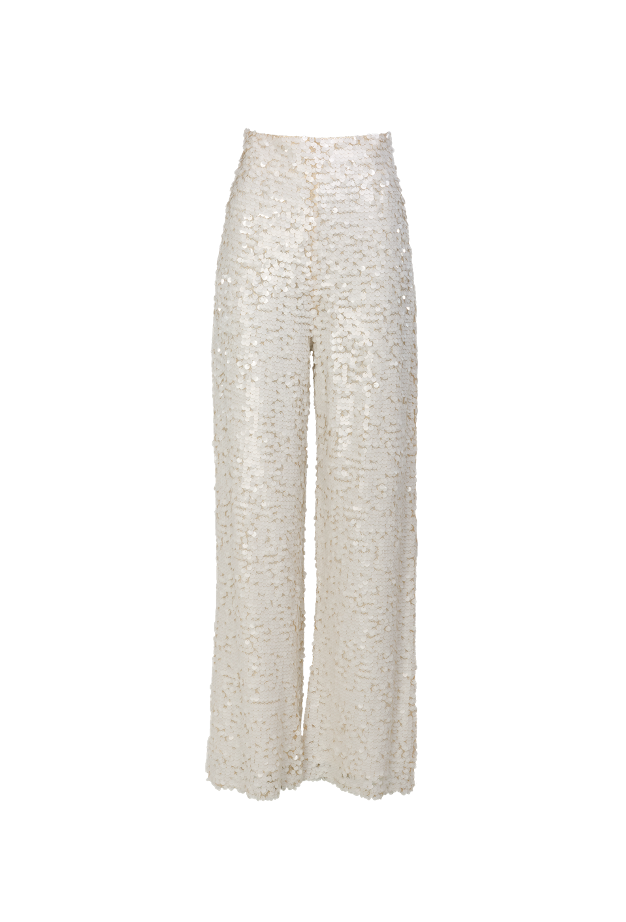 Sequins Wide Leg Pants