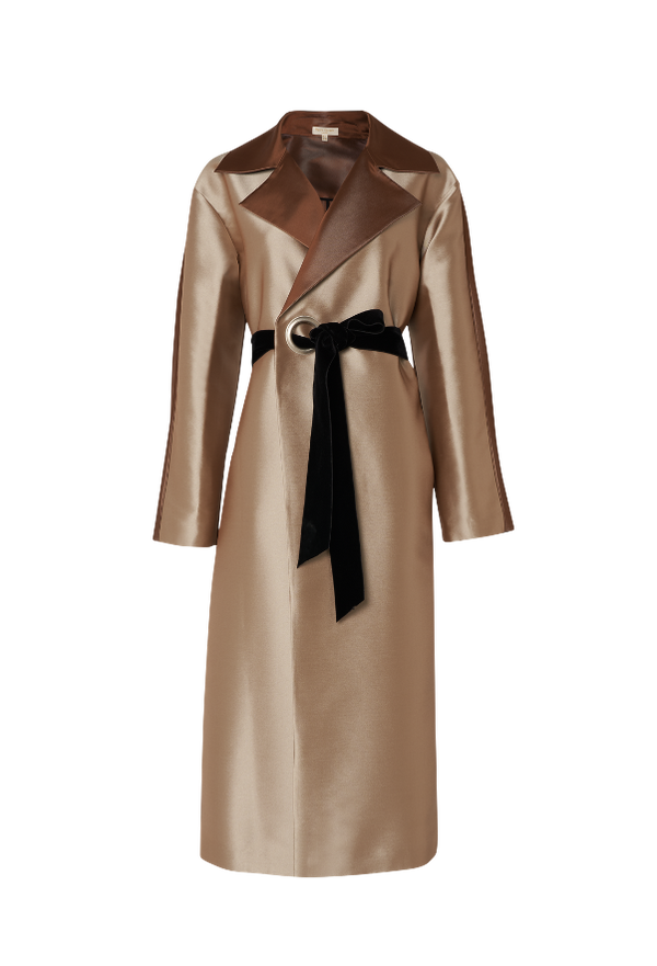 The Bianca Two Tone Oversized Coat