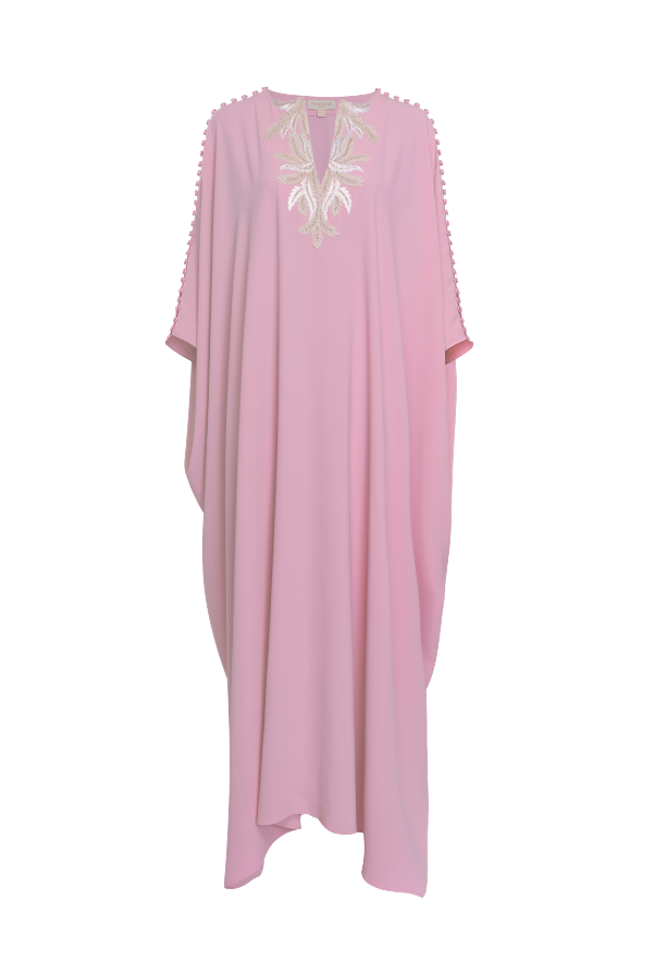 Organza Petal embellished, looped kaftan