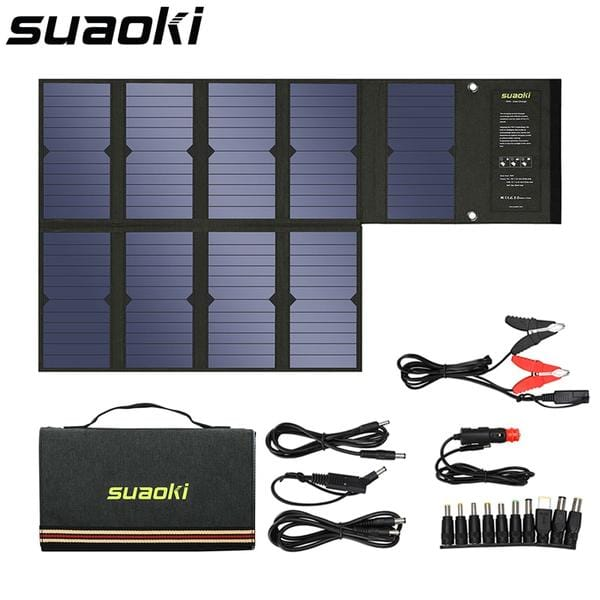 Solar Sporting Goods 60W Portable Foldable Solar Power Panel