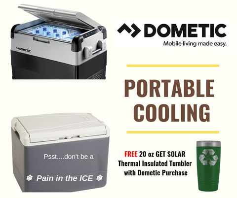 DOMETIC COOLFREEZE Cooling Box | Free 20 oz Thermal Insulated Tumbler With Dometic Purchase