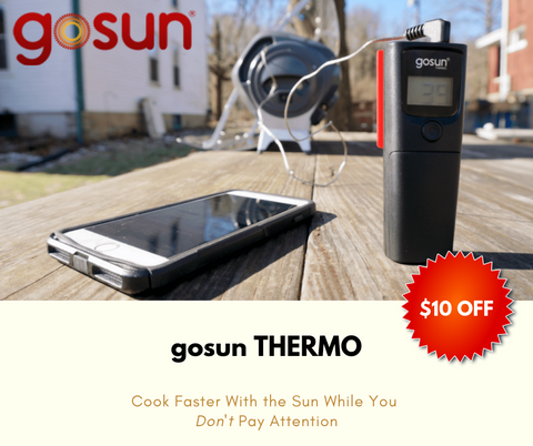 GOSUN THERMO Mobile App Enabled Thermometer | Off Grid Cooking
