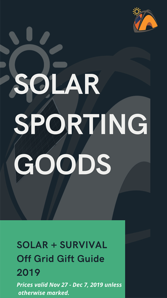 Solar Sporting Goods Solar Survival 2019 Holiday Gift Guide