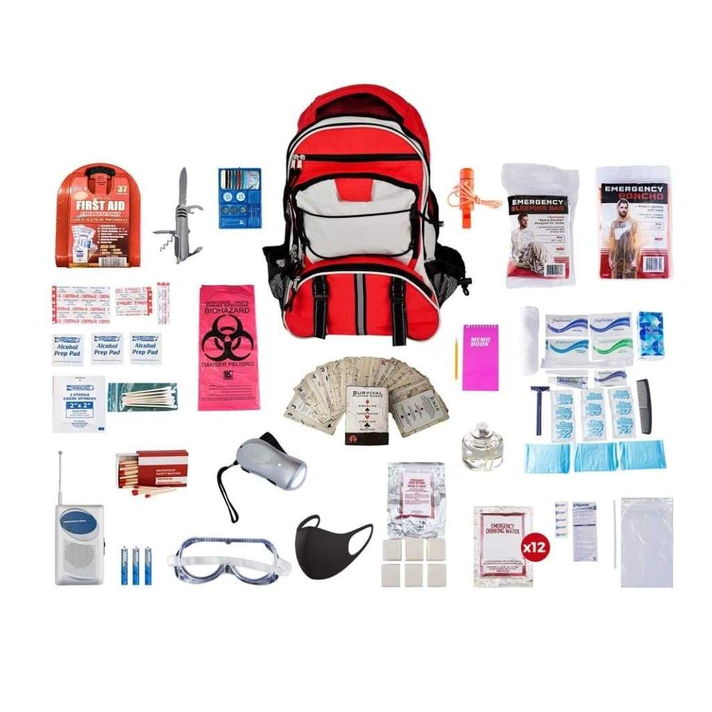 1 Person Deluxe Survival Kit Emergency Preparedness (72+ Hours)-Emergency Tools & Kits-Guardian-SKXK-Solar Sporting Goods