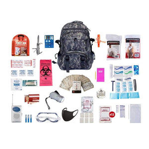1 Person Deluxe Survival Kit Emergency Preparedness (72+ Hours)-Emergency Tools & Kits-Guardian-SKXK||CAMO Backpack-Solar Sporting Goods