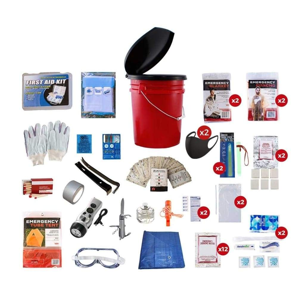 2 Person Bucket Survival Kit | Off Grid Survival Gear Emergency Kit-Emergency Tools & Kits-Guardian-Solar Sporting Goods