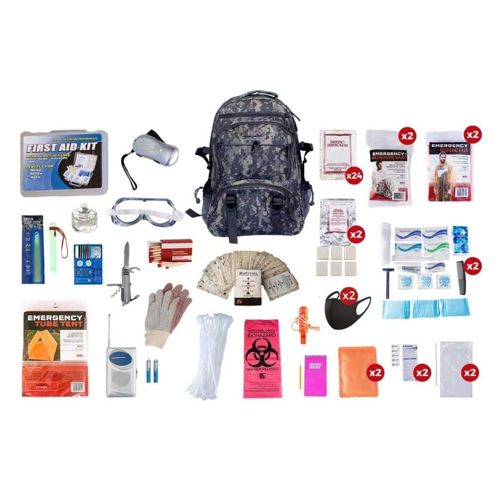 2 Person Elite Survival Kit | Off Grid Survival Gear Emergency Kit-Emergency Tools & Kits-Guardian-Backpack-Solar Sporting Goods