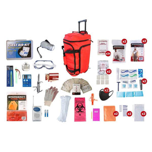 2 Person Elite Survival Kit | Off Grid Survival Gear Emergency Kit-Emergency Tools & Kits-Guardian-RED Wheel Bag-Solar Sporting Goods