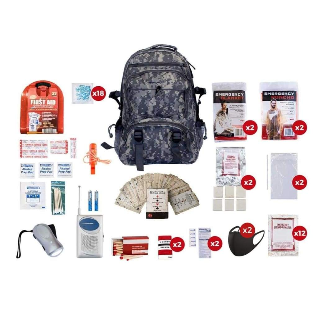 2 Person Survival Kit | Off Grid Survival Gear Emergency Kit-Emergency Tools & Kits-Guardian-SKG2-Solar Sporting Goods