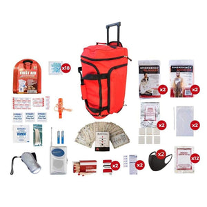 2 Person Survival Kit | Off Grid Survival Gear Emergency Kit-Emergency Tools & Kits-Guardian-SKG2||red-wheel-bag-Solar Sporting Goods