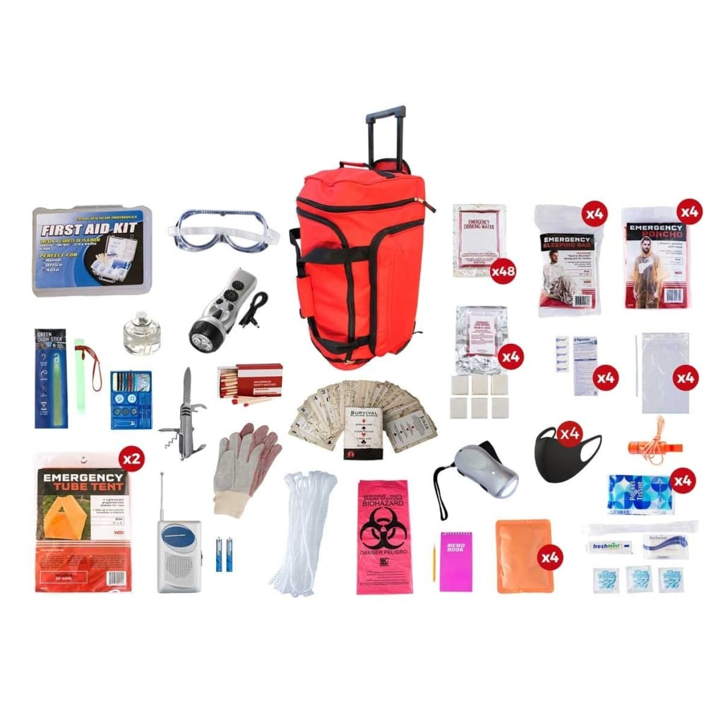 4 Person Elite Survival Kit | Off Grid Survival Gear Emergency Kit-Emergency Tools & Kits-Guardian-SKT4-Solar Sporting Goods