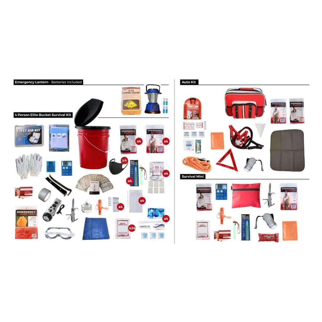 4 Person Preparedness Package | 4 Kits in 1 | Off Grid Survival Gear Emergency Kit-Emergency Tools & Kits-Guardian-Solar Sporting Goods