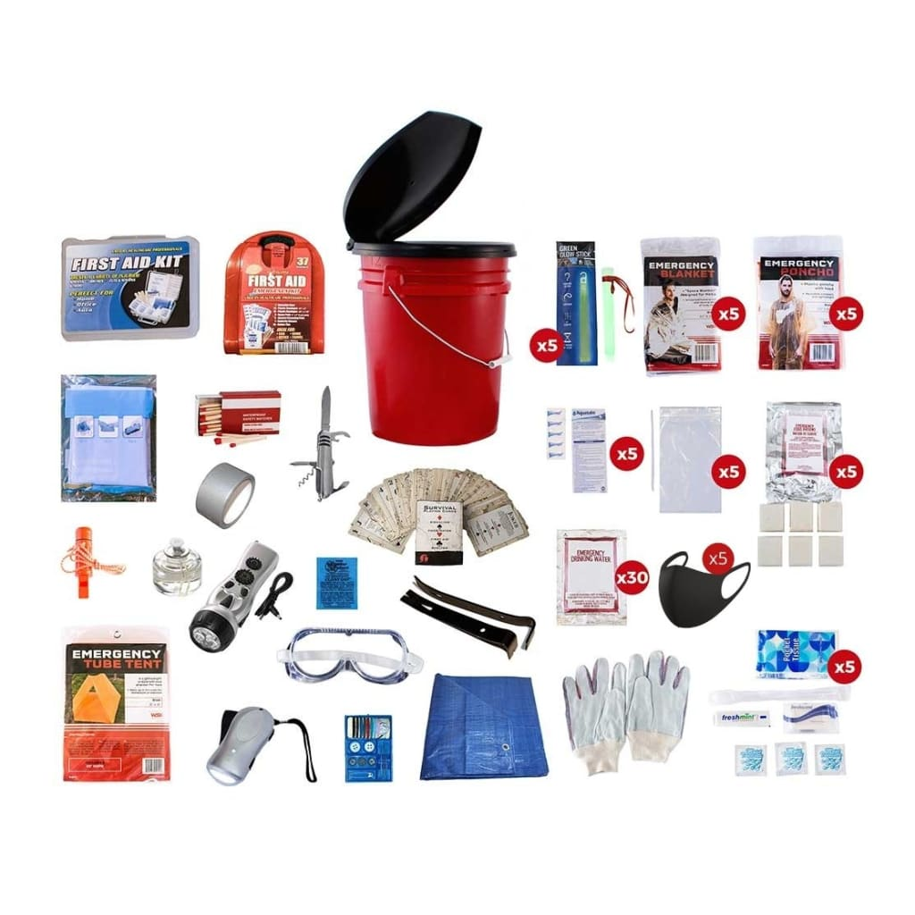 5 Person Survival Kit | Off Grid Survival Gear Emergency Kit-Emergency Tools & Kits-Guardian-Solar Sporting Goods