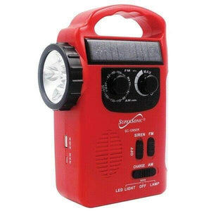 5-Way Emergency Solar/Hand Crank Radio with Flashlight -