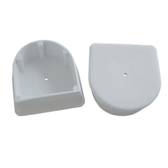 Dock Edge Large End Plug - White *2-Pack [DE1026F] -