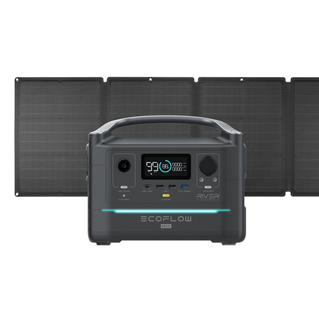 EcoFlow RIVER Max 576Wh Portable Power Station + 110W Solar