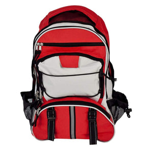 Elite Multi-Pocket Hikers Backpack - Red - Accessories