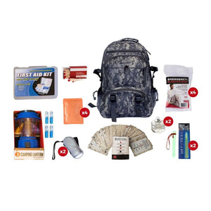 Family Blackout Kit | Off Grid Survival Gear Emergency Kit-Emergency Tools & Kits-Guardian-SKB4||CAMO Backpack-Solar Sporting Goods