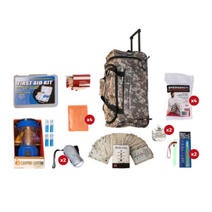 Family Blackout Kit | Off Grid Survival Gear Emergency Kit-Emergency Tools & Kits-Guardian-SKB4||CAMO Wheel Bag-Solar Sporting Goods