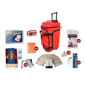 Family Blackout Kit | Off Grid Survival Gear Emergency Kit-Emergency Tools & Kits-Guardian-SKB4||RED Wheel Bag-Solar Sporting Goods