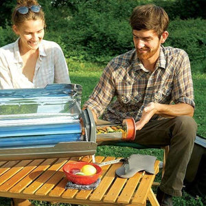 GoSun Fusion Hybrid Solar Oven in Use | Off Grid Cooking