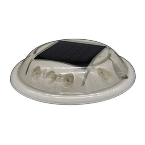 Hydro Glow C1R Round Solar Dock, Deck Pathway Light - Red [C1R]-Accessories-Solar Sporting Goods