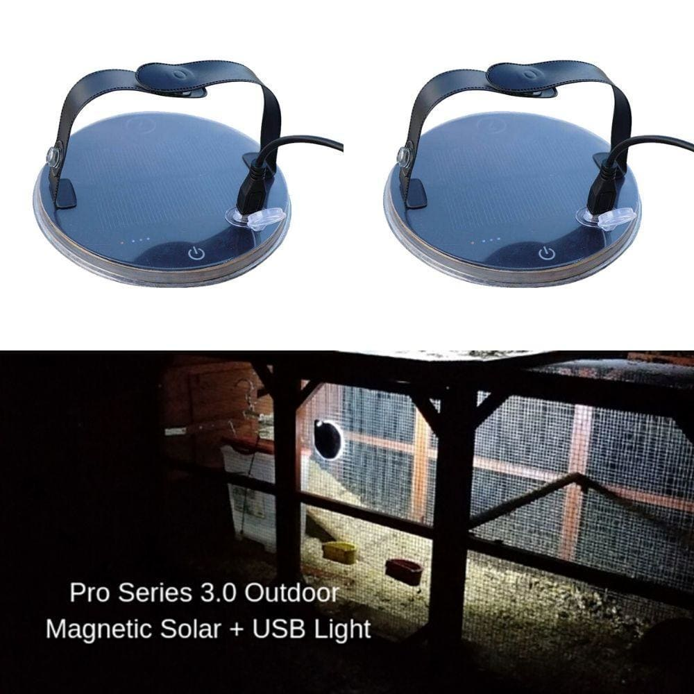 Magnetic Waterproof Hands Free 3 Way Solar USB Charge LED Camping Lantern-Camping Lights & Lanterns-Solar Sporting Goods