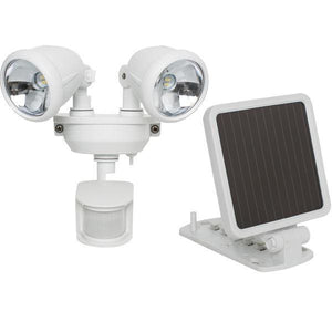 MAXSA Innovations Off Grid 4 LED Solar Power Dual-Head Spotlight-Flood & Spot Lights-MAXSA Innovations-White-Solar Sporting Goods