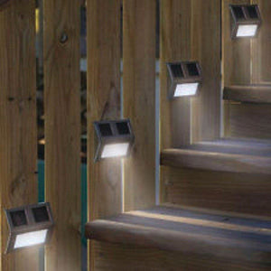 MAXSA Off Grid 4 LED Accent Solar Lights for Decks, Stairs, Rails-Landscape Pathway Lighting-MAXSA Innovations-Solar Sporting Goods