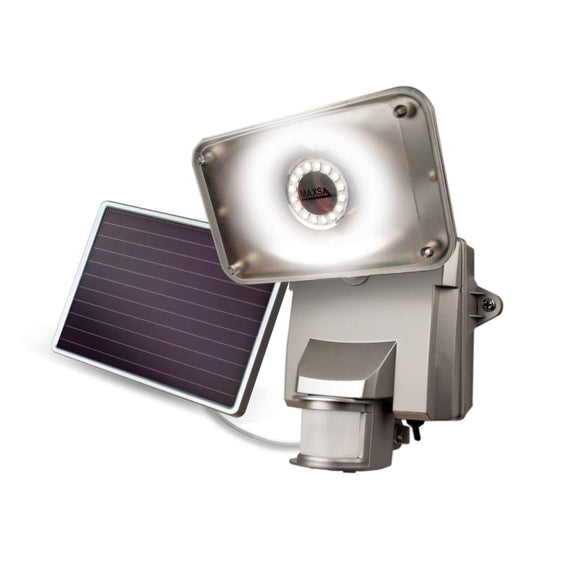 MAXSA Off Grid 16 LED Solar Power Security Light for Yard, Patio, Shed-Flood & Spot Lights-MAXSA Innovations-Silver-Solar Sporting Goods
