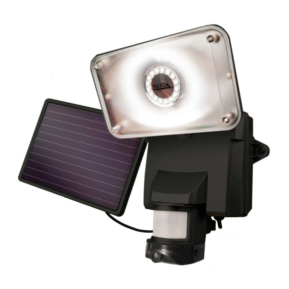 MAXSA Innovations Off Grid 16 LED Solar Power Video Camera & Light-Surveillance Cameras-MAXSA Innovations-Black-Solar Sporting Goods