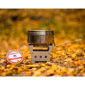QuickStove Deluxe Off Grid Survival Cook Kit w Stainless Steel Pot-Camping Cookware & Dinnerware-QuickStove-Solar Sporting Goods
