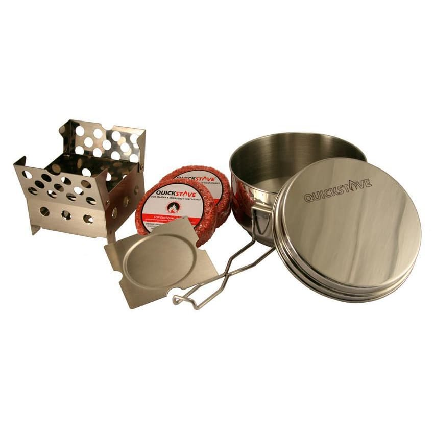 QuickStove Off Grid Survival Cook Kit with Stainless Steel Pot-Camping Cookware & Dinnerware-QuickStove-Solar Sporting Goods